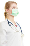 Young woman doctor in face surgical mask Royalty Free Stock Image