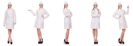 The young woman doctor isolated on white Royalty Free Stock Photo