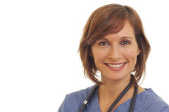 Young woman doctor in scrubs Royalty Free Stock Images