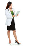 Young woman doctor using tablet computer Stock Photo