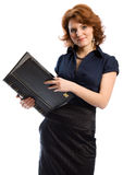 The young woman with documents Royalty Free Stock Images