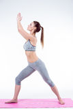 Young woman does yoga Royalty Free Stock Photos