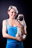 Young woman with the dog Royalty Free Stock Photography