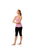 Young woman doing aerobic exercise. Royalty Free Stock Photo
