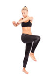 Young woman doing aerobics Royalty Free Stock Images