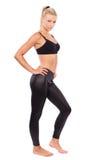 Young woman doing aerobics Stock Images