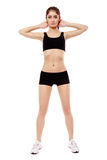 Young woman doing aerobics Royalty Free Stock Photography