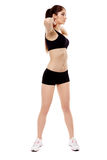 Young woman doing aerobics Royalty Free Stock Photos