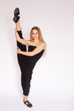 Young woman doing ballet Stock Photography