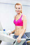 Young woman doing cardio Stock Image