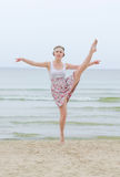 Young woman doing dancing elements Royalty Free Stock Photography