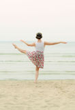 Young woman doing dancing elements Royalty Free Stock Photo
