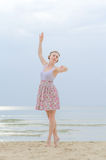 Young woman doing dancing elements Stock Image