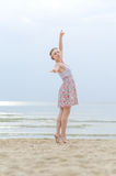 Young woman doing dancing elements Stock Photos
