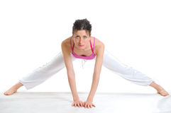 Young woman doing exercise Royalty Free Stock Image