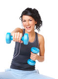 Young woman doing exercise Royalty Free Stock Photo