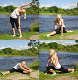 Young woman doing exercise Royalty Free Stock Images