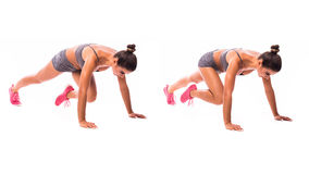 Young woman doing exercise Royalty Free Stock Photography