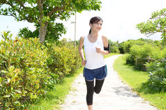 Young woman doing exercise Stock Image