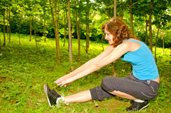 Young Woman Doing Exercises Royalty Free Stock Image