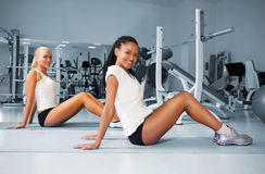 Young woman doing exercises Stock Photography
