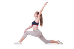 Young woman doing exercises Royalty Free Stock Photography