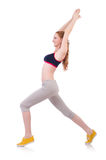 Young woman doing exercises Stock Photo