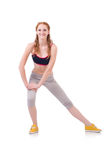Young woman doing exercises Royalty Free Stock Photos