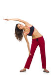 Young woman doing exercises Royalty Free Stock Photo