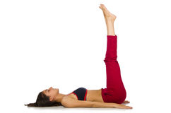 Young woman doing exercises Stock Images