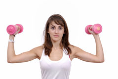 Young woman doing fitness Royalty Free Stock Photo