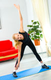 Young woman doing fitness Stock Photography