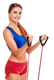 Young woman doing fitness Royalty Free Stock Image