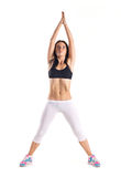 Young woman doing fitness  exercise Stock Photography