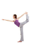 Young woman doing fitness exercises Royalty Free Stock Photos