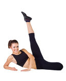 Young woman doing fitness exercises Royalty Free Stock Images