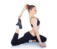 Young woman doing fitness exercises Royalty Free Stock Photography