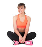 Young woman doing fitness exercises Stock Photo