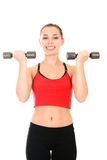 Young woman doing a fitness workout Stock Photo