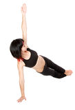 Young woman doing floor exercise Royalty Free Stock Image