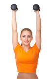 Young woman doing gymnastic exercises Stock Photo