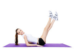 Young woman doing gymnastics Royalty Free Stock Photography