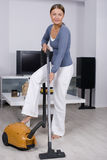 Young Woman Doing Housework stock photo
