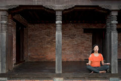 Young Woman Doing Meditation Royalty Free Stock Photos