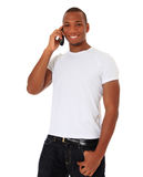 Young woman doing phone call Stock Photo