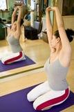 Young woman doing Pilates Stock Photos