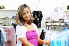 Young woman doing shopping Stock Photo