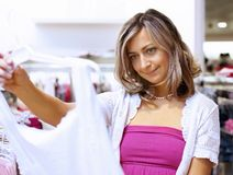 Young woman doing shopping Royalty Free Stock Photos