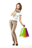 Young woman doing shopping Royalty Free Stock Image