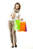 Young woman doing shopping Stock Images